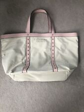 Victoria Secret Canvas And Studded Tote Bag