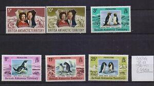 ! British Antarctic Territory 1972-1979.  Stamp. YT#43/44,78/81, €44.50!