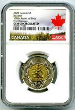 2020 $2 CANADA NGC GEM UNC TOONIE BILL REID BEAR TWO DOLLAR FIRST RELEASES