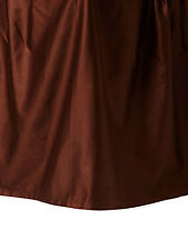 Sferra Monroe Brown King Bedskirt Gathered Solid Chocolate Cotton Sateen New