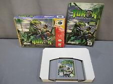 "Nintendo 64 ""TUROK""  Game w/ Box & Instructions 1997 N64"