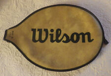 "Vintage Wilson Tennis Racket Bag Made In Usa Tan & Black 14.25"" Tall"