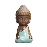 Monk Statue Car Home Desk Shelf Tea Pet Buddha Decor Collectible Art,At Ease