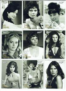 James Bond Dangerous Liaisons 2006 Bond Girls Are Forever Card Set BG30 to BG45