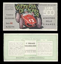 biglietto lotteria DI MONZA 1964