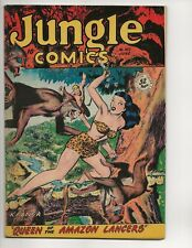 JUNGLE COMICS #102 FN/VF GOLDEN AGE 52 PAGES FICTION HOUSE 1948 GOOD GIRL FIGHT