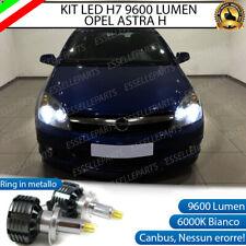 KIT LED H7 CANBUS OPEL ASTRA H 9600 LUMEN 6000K BIANCO GHIACCIO ANABBAGLIANTI