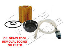 FOR TOYOTA AVENSIS 2.0 2.2 D4D OIL FILTER DRAIN DRAINING SOCKET REMOVAL TOOL KIT