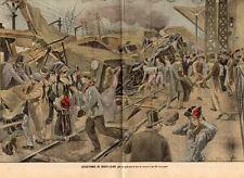 94 CHOISY LE ROI ACCIDENT TRAIN CATASTROPHE IMAGE 1900 PRINT