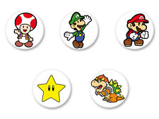 Lot Badge Button Ø25mm Super Mario Bros Nintendo Luigi Yoshi Retro Gaming