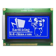 Blue 12864 128x64 Dots Graphic LCD Display Module LCM w/KS0107+KS0108,Tutorial