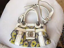 GUESS Handbag White/Green/Grey Floral Pattern