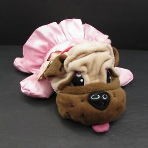 """Pound Puppies Ballerina 14"""" Plush Puppy Dog Pink Tutu Ballet Slippers 2004"""