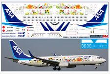 1/144 PAS-DECALS. ZVEZDA. Revell Boeing 737-800 ANA FLOWERS