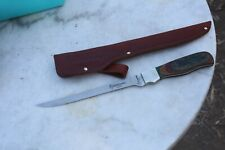 Rare Browning Knife with Sheath, USA exotic wood handle