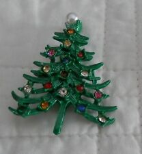 Pearl ? top various glass/stones Vintage Antique Costume? Brooch Christmas Tree