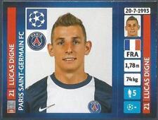 PANINI UEFA CHAMPIONS LEAGUE 2013-14- #175-PARIS SAINT-GERMAIN-LUCAS DIGNE