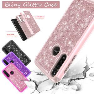 For Motorola Moto G Stylus / G Power 2020 Bling Hybrid Slim Phone Case Cover