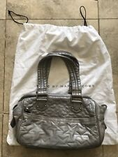 Marc by Marc Jacobs Quilted Jazz Star Metallic Silver Handbag Purse