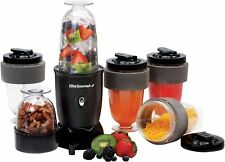 Elite Gourment EPB-1800 17 Piece Personal Drink Blender and Travel Cups, Black