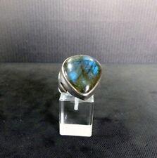 Ring Gr. 61, Silber 925 mit Labradorit