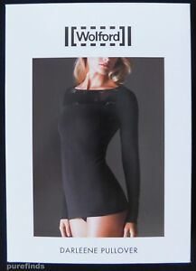WOLFORD DARLEENE PULLOVER, SIZE XS, IN BLACK, New in box