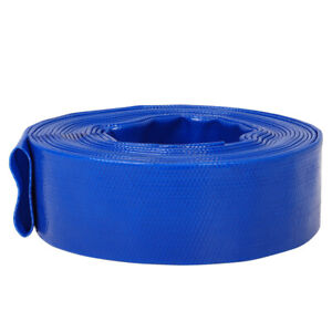 Layflat Water Delivery Hose PVC Lay Flat Discharge Pipe Pump Irrigation 10/30/50