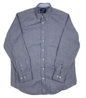 Charles Tyrwhitt Weekend Classic Fit Blue Button Down Long Sleeve Mens Large