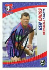 ✺Signed✺ 2008 NEWCASTLE KNIGHTS NRL Card BEN CROSS Daily Telegraph