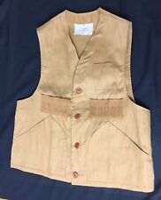 DE-LUX Storm Pruf Hunting Vest Heavy Cotton Size Medium 50s Vest