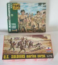 2 boxes 1/72 U. S. MARINES WWII Plastic figures ESCI 8016 & REVELL 2506