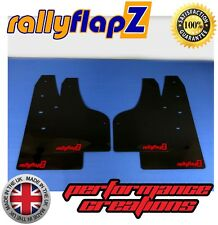 rallyflapZ FORD FOCUS Mk3 / Mk3.5 ZETEC S Mud Flaps Kit Black RF Red - 4mm PVC