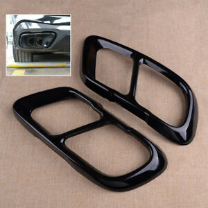 2pcs Exhaust Muffler Tips Cover Fit For BMW X5 G05 X7 Tail Pipe End Black Trim