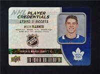 2018-19 18-19 UD Upper Deck Player Credentials Level 1 #NHL-MM Mitch Marner