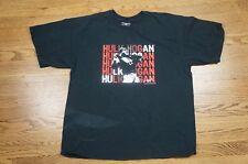 Rare Vintage STEVE & BARRYS WWE Hulk Hogan Spell Out Logo Tee Shirt 90s Black XL