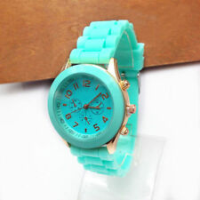 1x Colorful Women Men Geneva Silicone Jelly Gel Quartz Analog Sports WristWatch