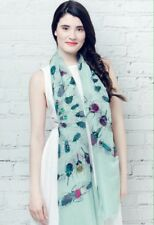 BNWT Blue Beatle Insect Print Large Summer Scarf Beach Sarong Hijab Headscarf