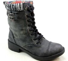 WOMENS ROCKET DOG THUNDER GALAXY CHARCOAL LEATHER LOOK LACE UP BOOTS UK SIZE 6