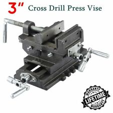 "3"" Cross Slide Vise Drill Press Heavy Duty Metal Milling 2 Way X-Y Clamp Machine"