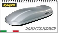 BOX AUTO PORTATUTTO FARAD MARLIN N6 LT480 GRIGIO METALLIZZ ROOF BOX BAULE TETTO