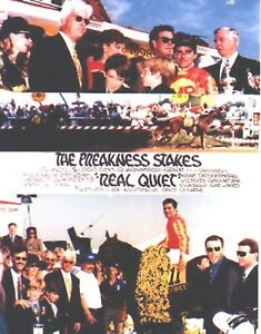 "1998 - REAL QUIET - 3 Photo Preakness Stakes Composite - 8"" x 10"""