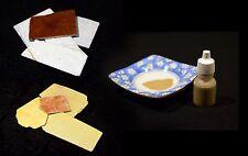 Hazuya & Jizuya 20g Japanese Sword Polishing Stone Set Lacquered & Tojiru Paste