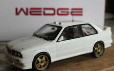 Wedge bmw m3 e30 rally talla a plainbody White testcar 1:18 rareza