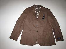 Nautica Men's Tweed Herringbone Blazer Size 44 Regular NWT Brown Wool 44R Jacket