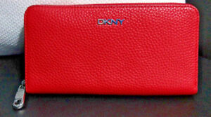 DKNY Chelsea large leather zip-around wallet