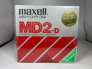 MAXELL MINI-FLOYY DISK MD2-D SOFT SECTORED DOUBLE SIDED DOUBLE DENSITY SEALED!