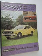 VINTAGE DATSUN 1300  BLUEBIRD 160/80 Car Owners Workshop Manual Book free uk p&p