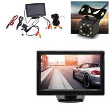 """5""""HD TFT LCD Car Rearview Monitor+Night Vision Reverse Backup Parking Camera Kit"""