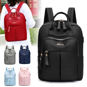 Ladies Large Capacity Backpack Anti-Theft Travel School Bag Waterproof Rucksack
