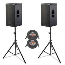 DAS D.A.S. Action 15A PA System w/ Stands & Cables. 1000 Watt PA System